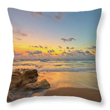 Colorful Seascape Throw Pillow