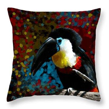 Colorful Toucan Throw Pillow