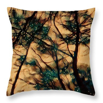 Throw Pillow featuring the digital art  Colors And Spirit  by Lucia Sirna