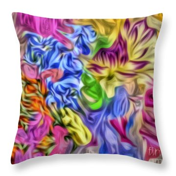 Colors From Nature Throw Pillow