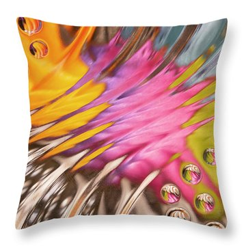 Colors In Vitro 2 Throw Pillow