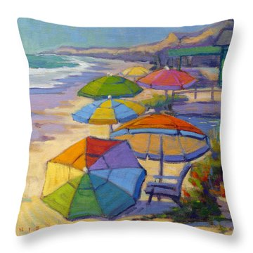 Colors Of Crystal Cove Throw Pillow