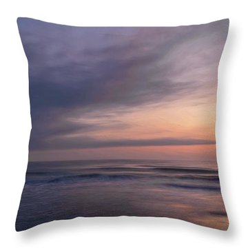 Throw Pillow featuring the photograph Colors Of Dawn by John M Bailey
