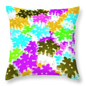 Colors Of Frost Throw Pillow