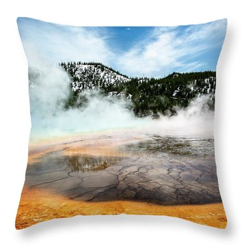 Throw Pillow featuring the photograph Colors Of Yellowstone by Scott Read