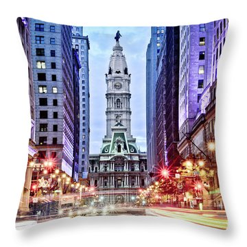 Colors On Broad Throw Pillow