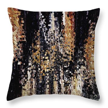 Throw Pillow featuring the painting Colossians 1 16. Your Creator by Mark Lawrence