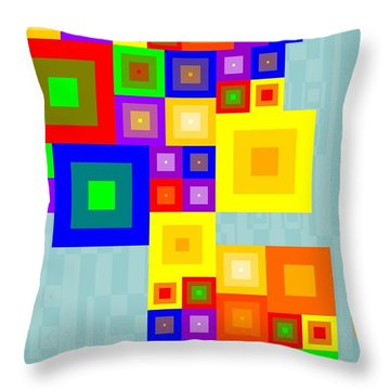 Colourful Cubism  Throw Pillow