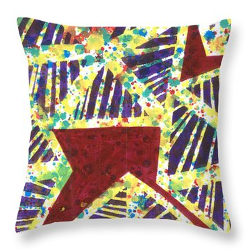 Colourful Webs  Throw Pillow