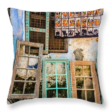 Colorful Window Frames Throw Pillow