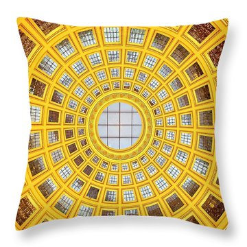 Colours. Gold Throw Pillow