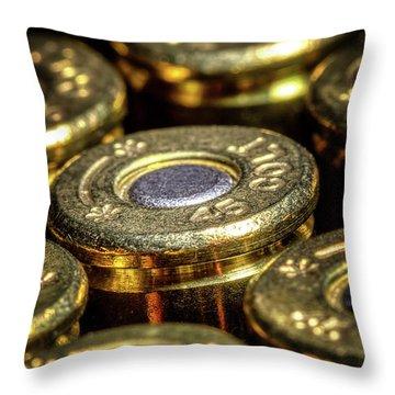 Colt 45 Ammunition Throw Pillow