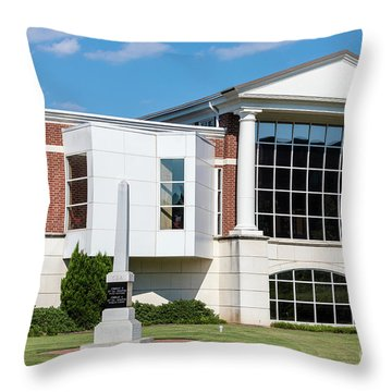 Columbia County Main Library - Evans Ga Throw Pillow