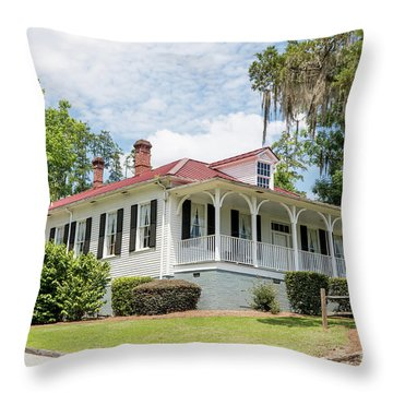 Columbia County Visitors Center - Savannah Rapids Throw Pillow