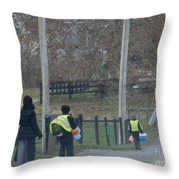 Coming Home From School Throw Pillow