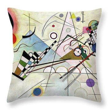 Composition 8 - Komposition 8 Throw Pillow