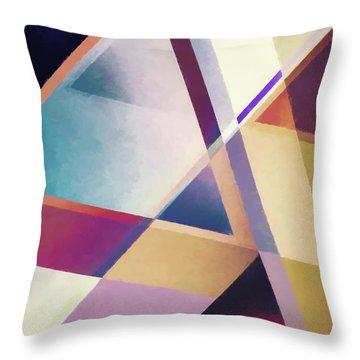Composition Des Pyramides Throw Pillow