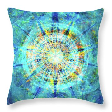 Throw Pillow featuring the digital art Concentrica by Kenneth Armand Johnson