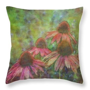 Coneflowers Among The Lavender 1667 Idp_2 Throw Pillow