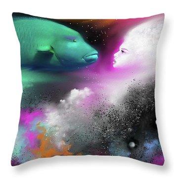 Confrontation Throw Pillow