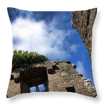 Cong Abbey Ruins Throw Pillow
