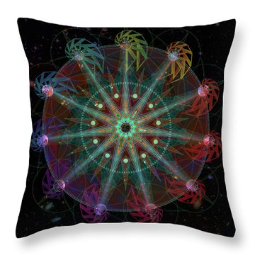 Throw Pillow featuring the digital art Conjunction by Kenneth Armand Johnson