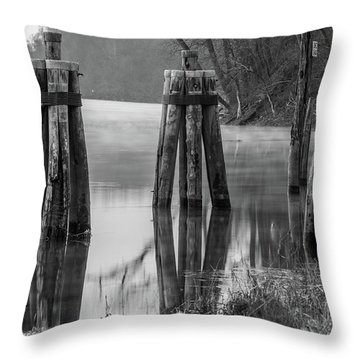 Connecticut River At Dawn Throw Pillow