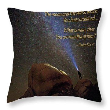 Consider The Heavens Throw Pillow