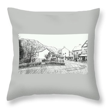 Coniston High Street Throw Pillow