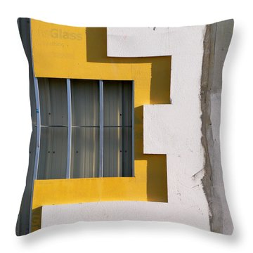 Construction Abstract Throw Pillow
