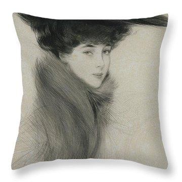 Consuelo Vanderbilt Throw Pillow
