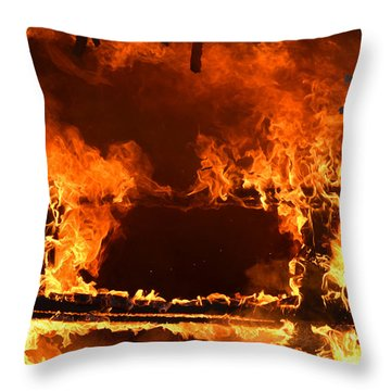 Throw Pillow featuring the photograph Consumed by Carl Young