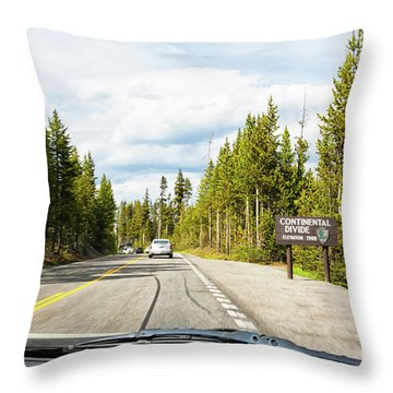 Throw Pillow featuring the photograph Continental Divide In Yellowstone National Park by Tatiana Travelways