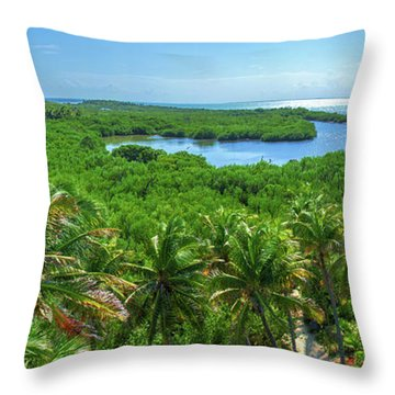Contoy Island Throw Pillow