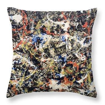 Jackson Pollock Paintings Throw Pillows