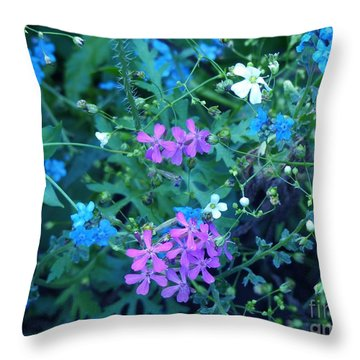 Throw Pillow featuring the photograph Cool Bouquet by Rosanne Licciardi