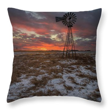 Throw Pillow featuring the photograph Cool Breeze  by Aaron J Groen