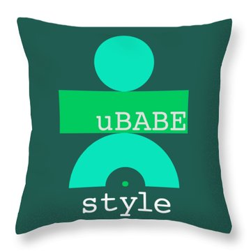 Cool Green Style Throw Pillow