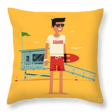 Guard Tower Throw Pillows
