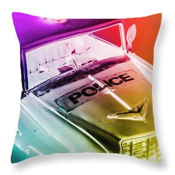 Cop Pops Throw Pillow