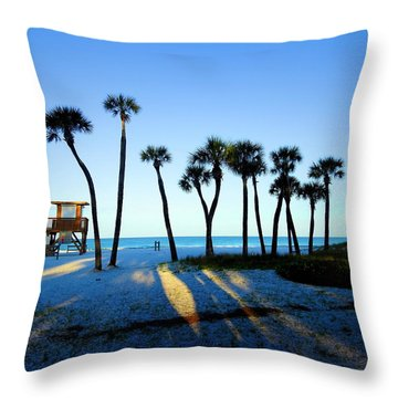 Coquina Palms Throw Pillow