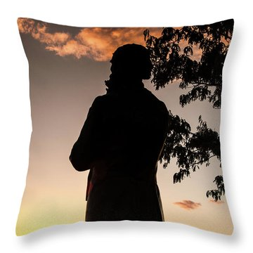 Corby At Sunset Throw Pillow
