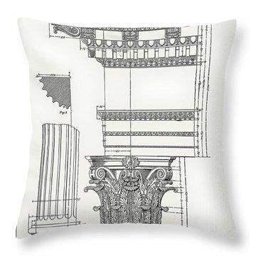 Corinthian Architecture Throw Pillow