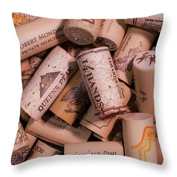 Wine Lovers Throw Pillow