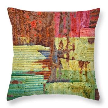 Corrugated Iron Ghana Flag Throw Pillow