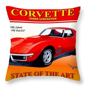 Corvette C3-shark Generation Throw Pillow