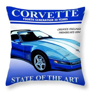 Corvette C4-30 Years On Throw Pillow