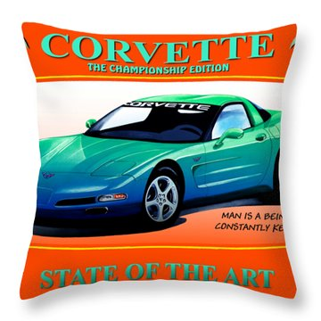 Corvette C5-championship Edition Throw Pillow
