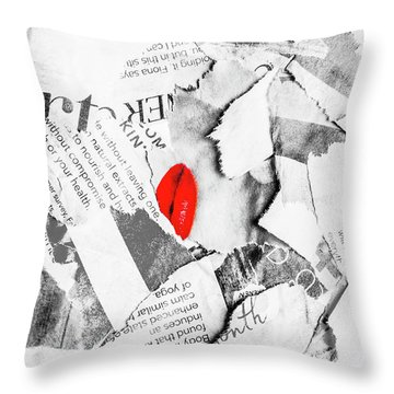 Cosmetic Collage Throw Pillow