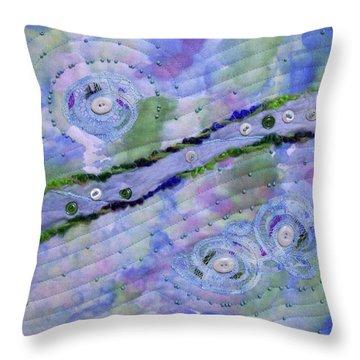 Cosmic Stream Throw Pillow